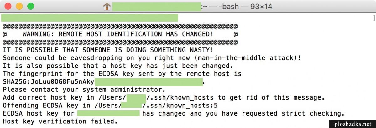 WARNING: REMOTE HOST IDENTIFICATION HAS CHANGED!