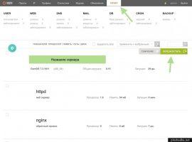 Новый домен в Vesta показывает содержимое первого сайта
