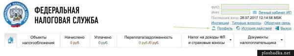 Профиль nalog.ru