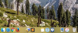 Добавление свободного пространства в Dock панели Mac OS