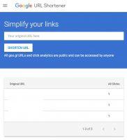 Сервис сокращения ссылок от Google