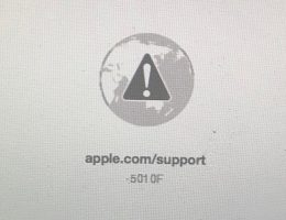 Ошибка: apple.com/support -501 0F
