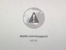 Ошибка: apple.com/support -501 0F