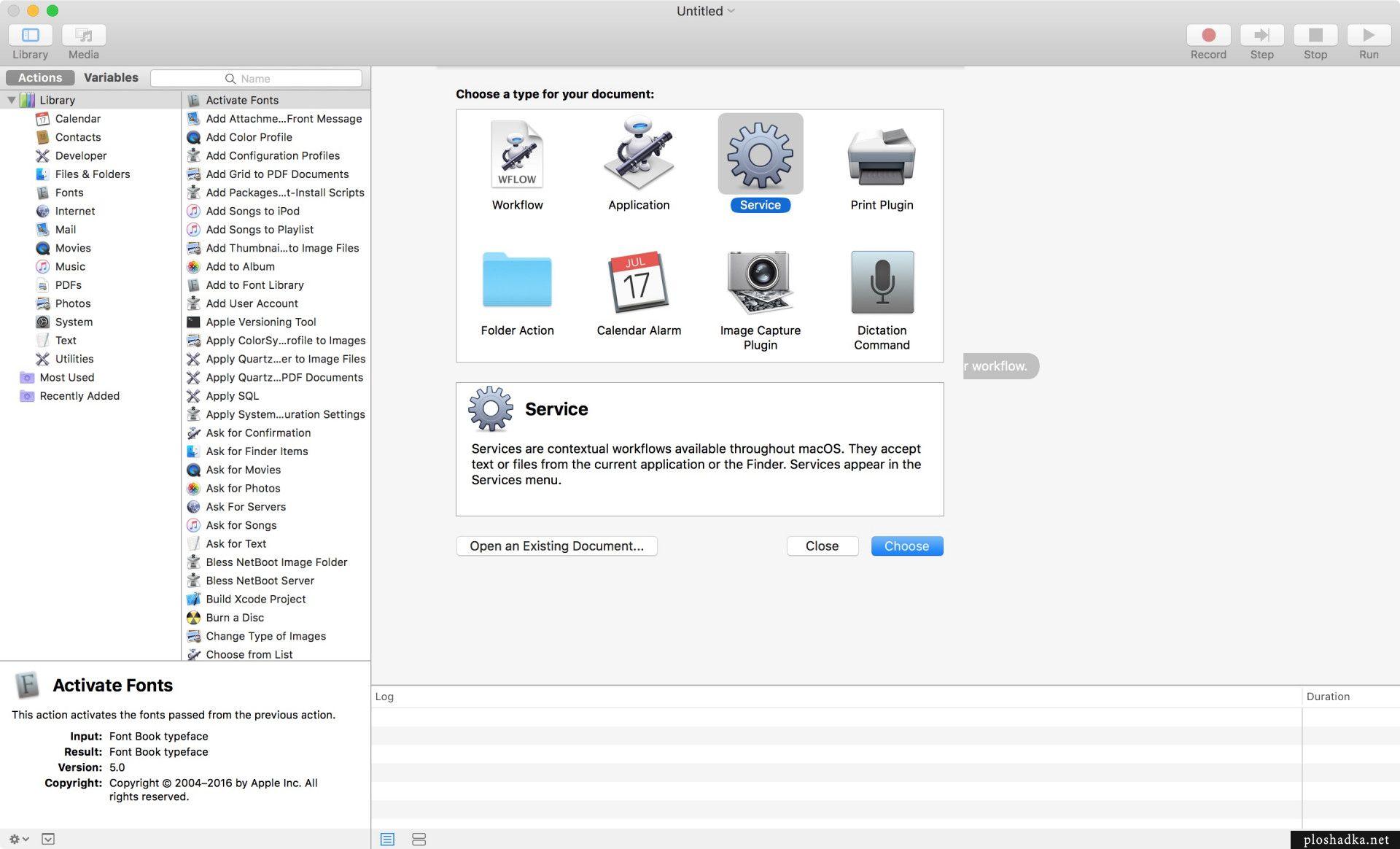 Сочетание клавиш для отправки фото из Finder в Photos на Mac OS