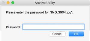 Как заархивировать zip файл в Mac OS с паролем