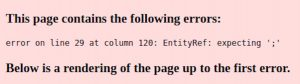 Error on line 35 at column 206: EntityRef: expecting ';'