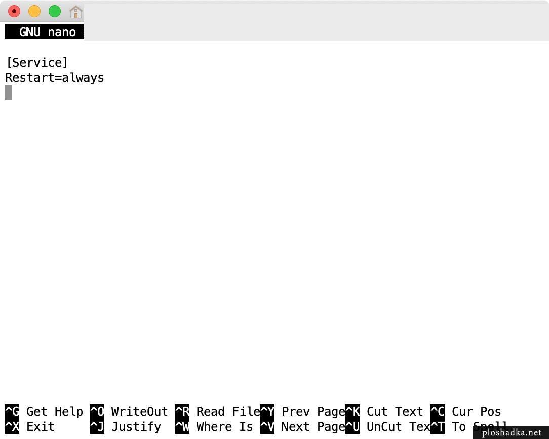 Автоматический перезапуск MySQL