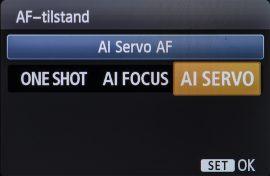 Режимы фокусировки One-Shot, AI Servo и AI Focus