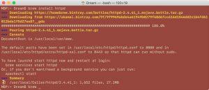 Устанавливаем веб-сервер на Mac OS